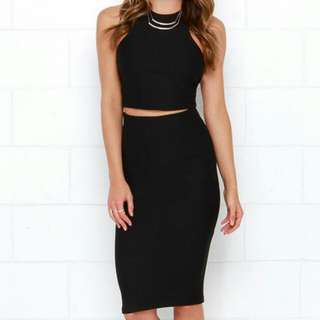 Black Bodycon Two Piece