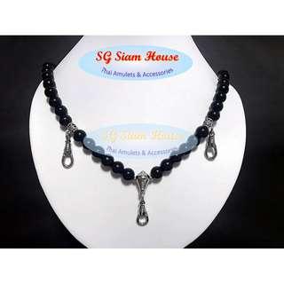 3+1 Ah fook clip / 10mm Black Onyx / Silver accessories / 60cm