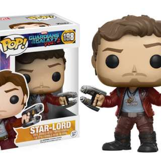 Funko Pop Guardians of Galaxy Vol 2 Star Lord #198