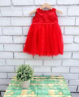 Dress Brocade & Tulle fit from 9-24m