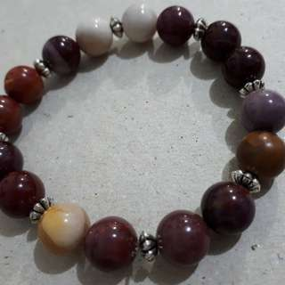 Mookaite bracelet with spacers