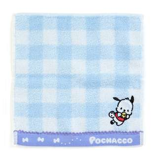 Japan Sanrio Pochacco Petit Small Towel Handkerchief (check)