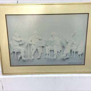 Music painting with frame