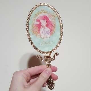 【全新】Disney 迪士尼 小美人魚鏡子 隨身化妝鏡 Ariel 愛麗兒