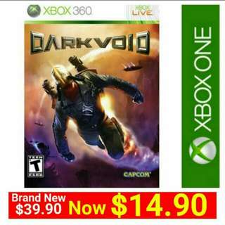 Brand New] XBOX360 DARK VOID (NTSC) Imported from USA - Region Free Version (playable on both USA and Singapore Consoles) Also playable on Xbox One now. Usual Price: $39.90 Special Price; $14.90
