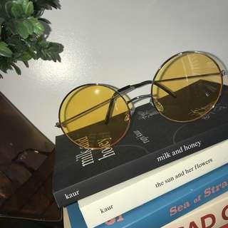 Yellow Round Sunglasses