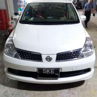 Nissan Latio 1.5A hatchback for rent