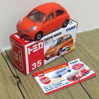 Tomica No.35 Nissan March 新車貼 蛋紙 日版