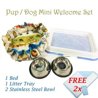 Pup / Dog Mini Welcome Set - Blue