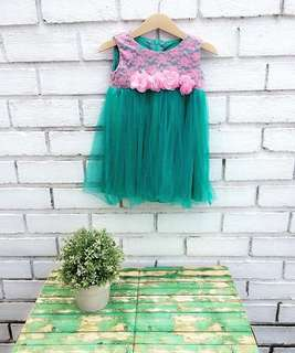 Dress Tulle Bunga fit from 9-18m