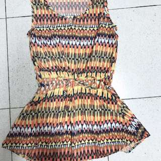 縮腰綁帶洋裝