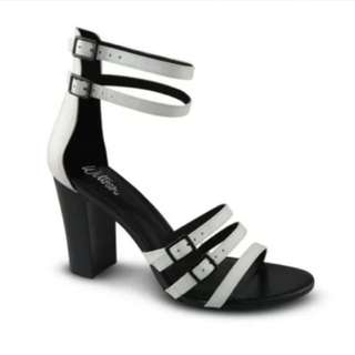 White/black Wittner heels