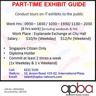 IT Exhibit Guide (Part-Time)// SINGAPOREAN ONLY!