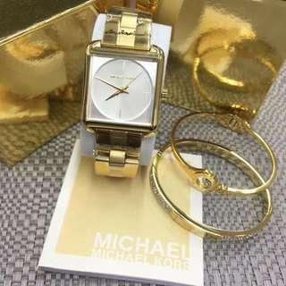 MK Watch and Bangle Set