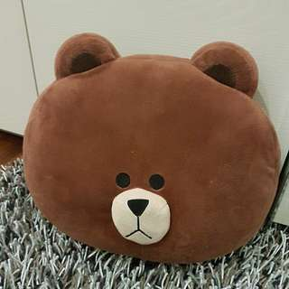 Line- Brown Bear Cushion