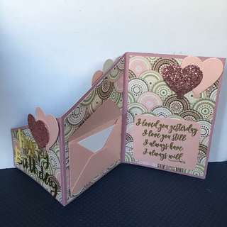 Birthday z fold card