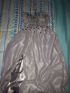 Gray Gown for Prom