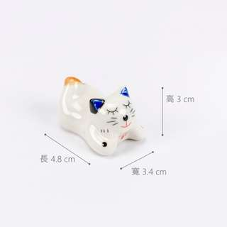 現貨 日系小貓 瓷製 筷架