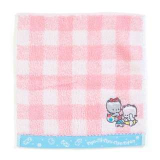 Japan Sanrio Nya Ni Nyu Nye Nyon Petit Small Towel Handkerchief (check)