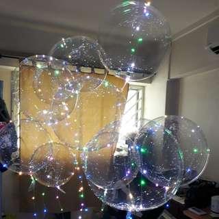 Led balloon + helium + batteries + led