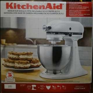 KitchenAid KSM75WH Classic Plus Series 4.5 Quart