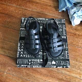 Mini Melissa Black Baby Shoes