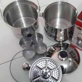 Panci Masak Kukus Stainless Europa Pot Izzy Cook Ukuran 7 Liter