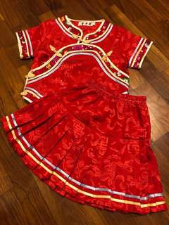 Traditional Chinese New Year Top & Skirt for Girl