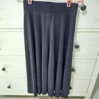 Topshop Flare Polka Dot Skirt