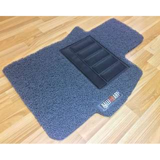 2007 TO 2017 MITSUBISHI LANCER EX GT OEM FITMENT DRIVER SIDE ONLY ONE PCS CAR FLOOR MAT..GREY COLOR PVC CARPET MAT RALLIART LOGO... COLOR AVAILABLE - RED, BLACK ,GREY ,BEIGE ,BROWN & BLUE...