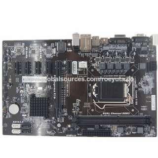 Mining Motherboard H81 LGA 1150 Intel Core I7 I5 I3 / Pentium DDR3X2 1600MHz 6 PCI-E  ( OEM )