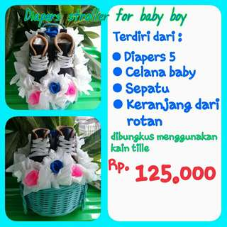 Diapers Stroller For Baby Boy