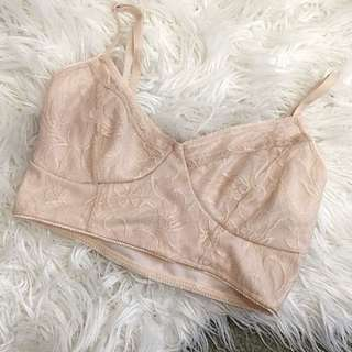 Crop lace bralette