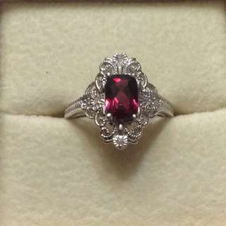 Rhodolite Garnet Ring - Fixed Price