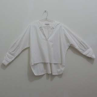 Cottonink White Assymetric Blouse