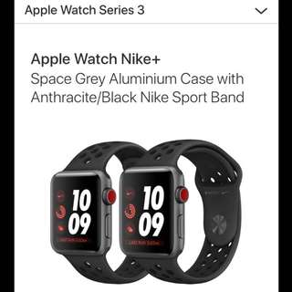 Apple watch series 3 (Cellular) (Nike sports)