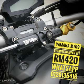 Yamaha mt09 tyrants damper set rm420 whatsapp 0126135416 Readystock! Readypos!