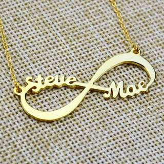 [PREORDER] Custom Personalised Name Infinity Necklace Gold