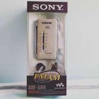 ony SRF-S84 收音機 銀色 連盒連耳機 ‼️$420‼️ 只用過兩次 面交時可試機