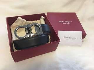 Men's Authentic Salvatore Ferragamo Leather Belt
