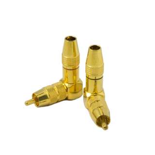 Gold Plated RCA Plug Right Angle