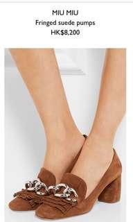 Nearly new Miu Miu suede shoes sz37