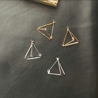 Korean style triangle earrings