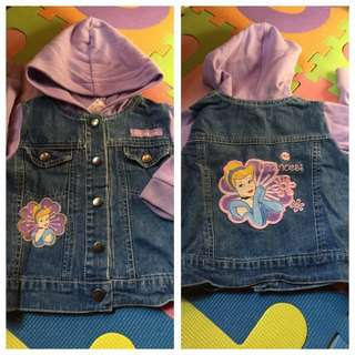 Baby cinderella jacket for 1-2 years old maong