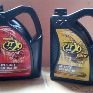 JTX 4 Liter oil gold and red