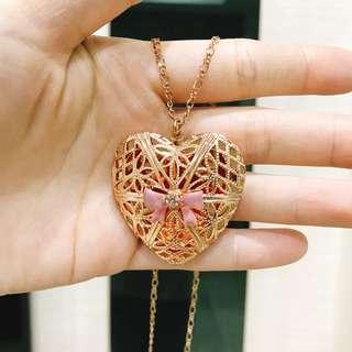 玫瑰金心型項鍊