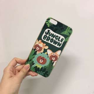 Line brown 熊大iphone case 6splus+