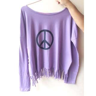 PEACE FRINGI TOP