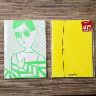 螢光色筆記簿(兩本)