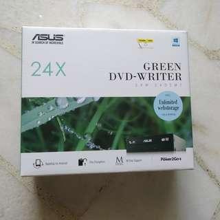 ASUS Green Internal DVD Writer (DRW-24D5MT)